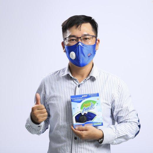 Khẩu trang than hoạt tính 4 lớp có van Asia Mask